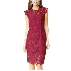 Women's Seeveless Lace Cocktail Dress